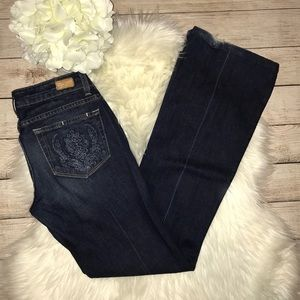 Paige Laurel Canyon Embroidered Denim Jeans